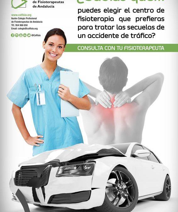 El paciente puede elegir el centro de fisioterapia por accidente de tráfico