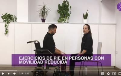 Ejercicios de pie en personas con movilidad reducida